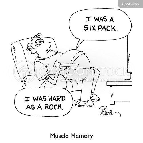 muscle memory cartoon