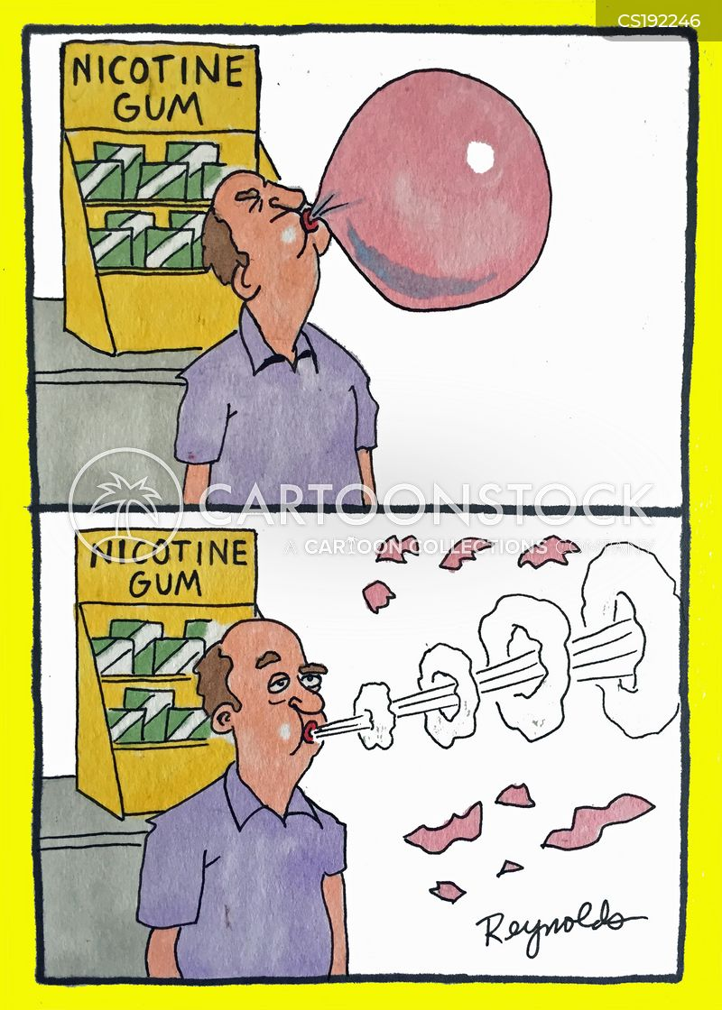 chewing gum cartoon