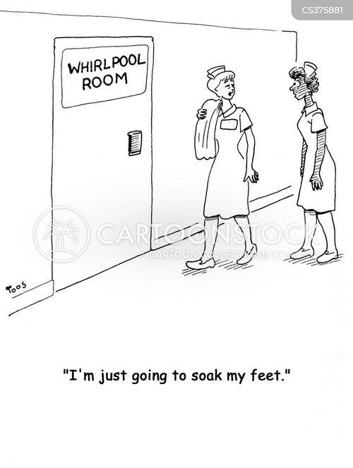 foot bath cartoon