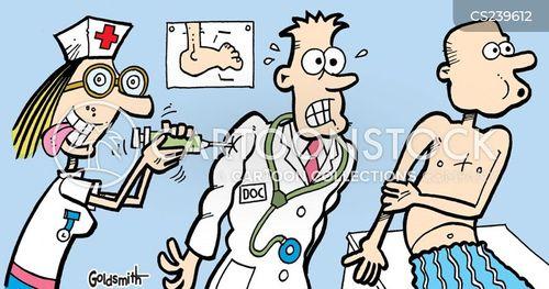 syringe cartoon