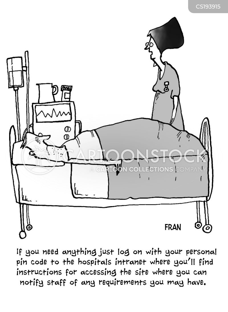 hospital treatment cartoon