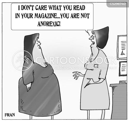 anorexics cartoon