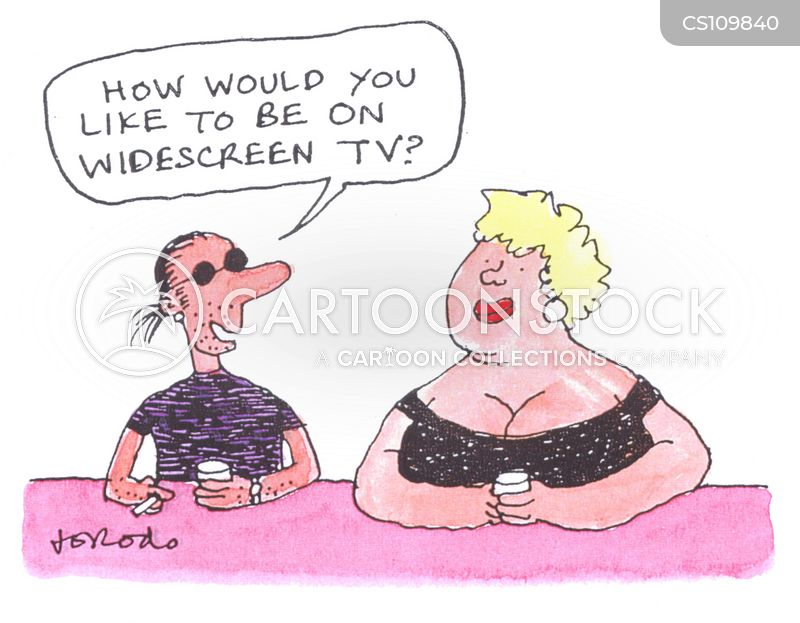 fat woman cartoon