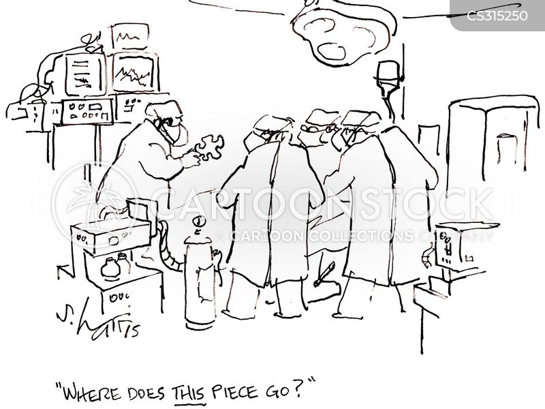 Cartoons und Karikaturen mit Anatomie