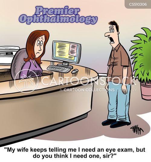 poor vision cartoon