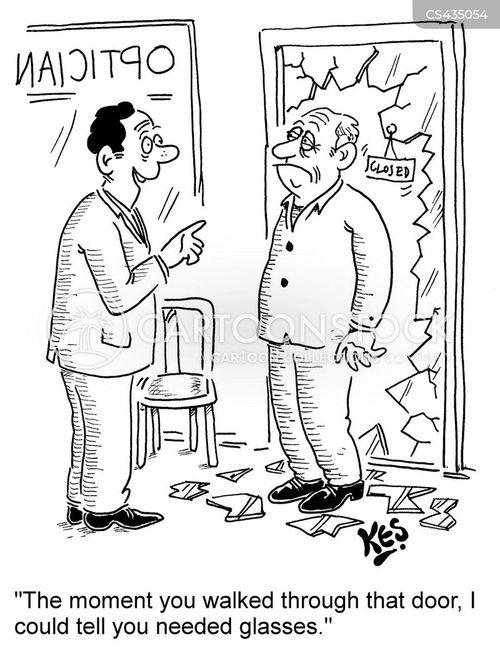 eye specialist cartoon