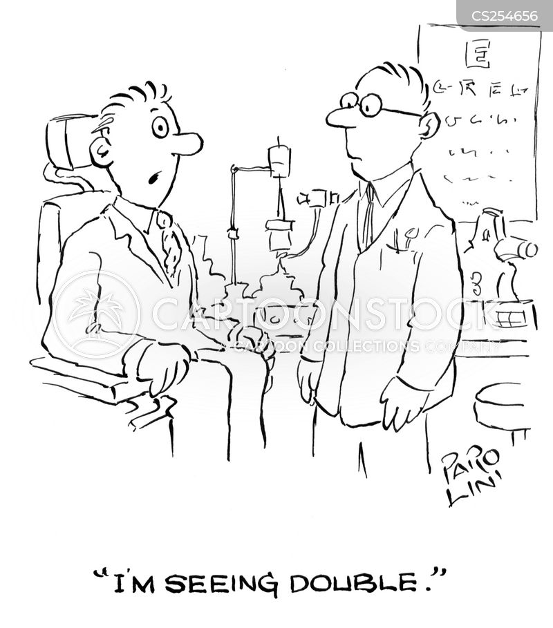 seeing double cartoon