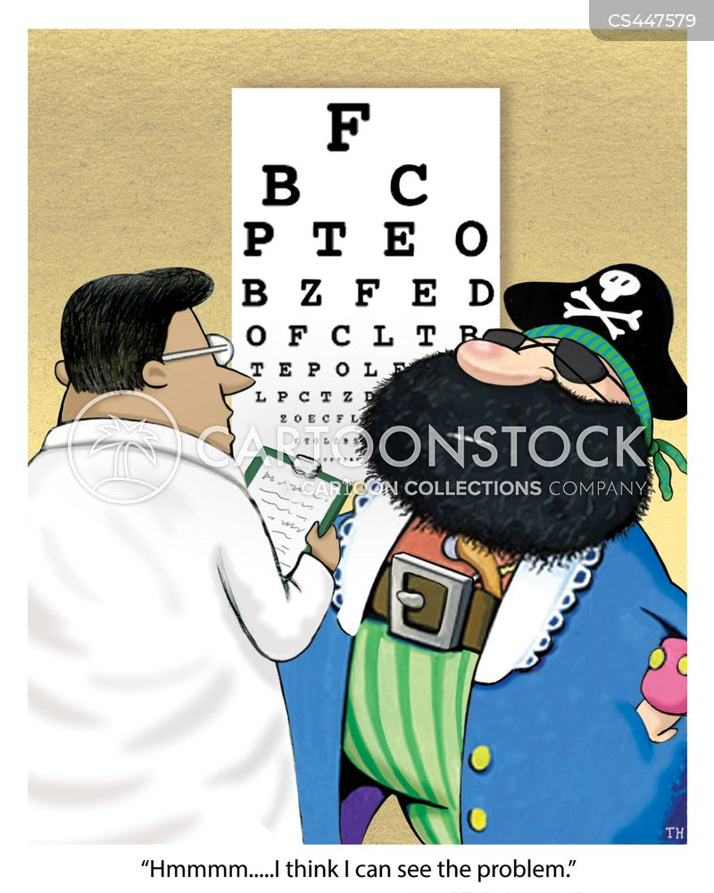 sight loss cartoon