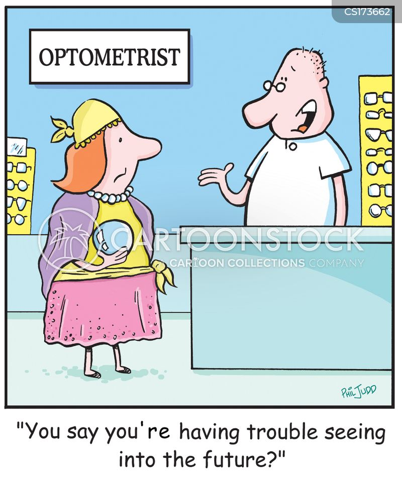 eye charts cartoon