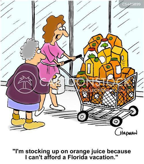 orange juices cartoon