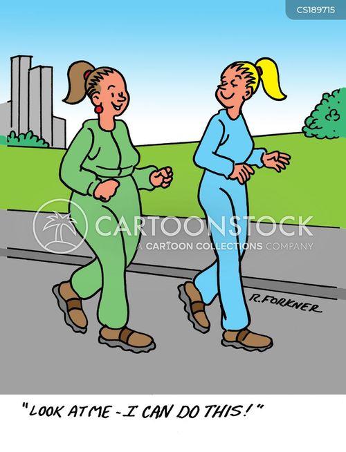 active lifestyle cartoon
