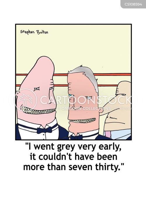 going grey cartoon