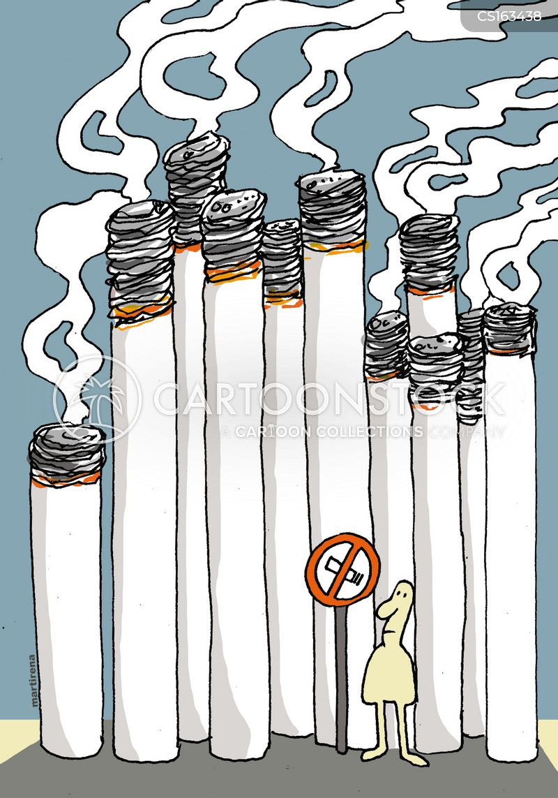 passive smokers cartoon