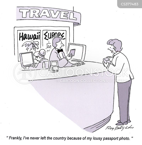 foreign travel cartoon