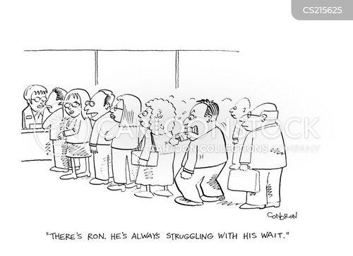 lined up cartoon
