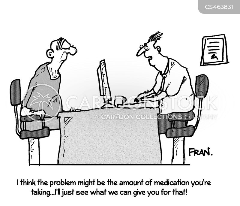over-medicated cartoon