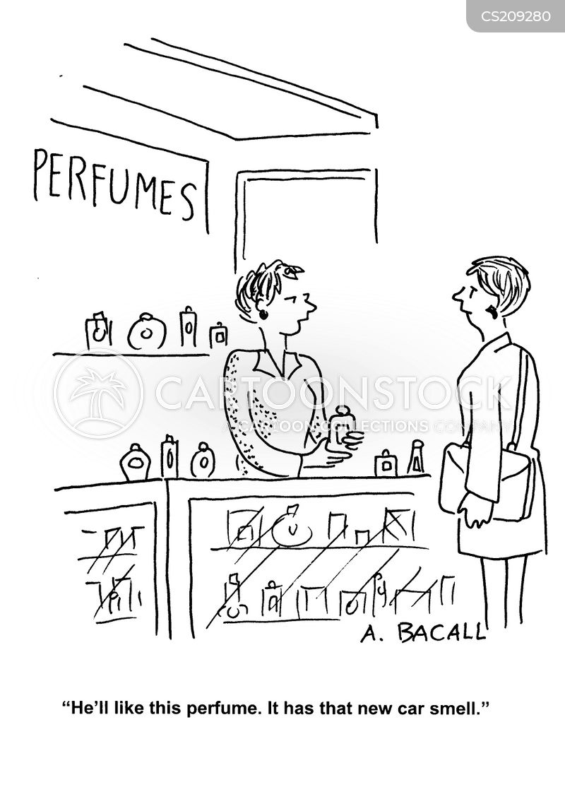 perfume counters cartoon