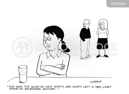 half-empty cartoon