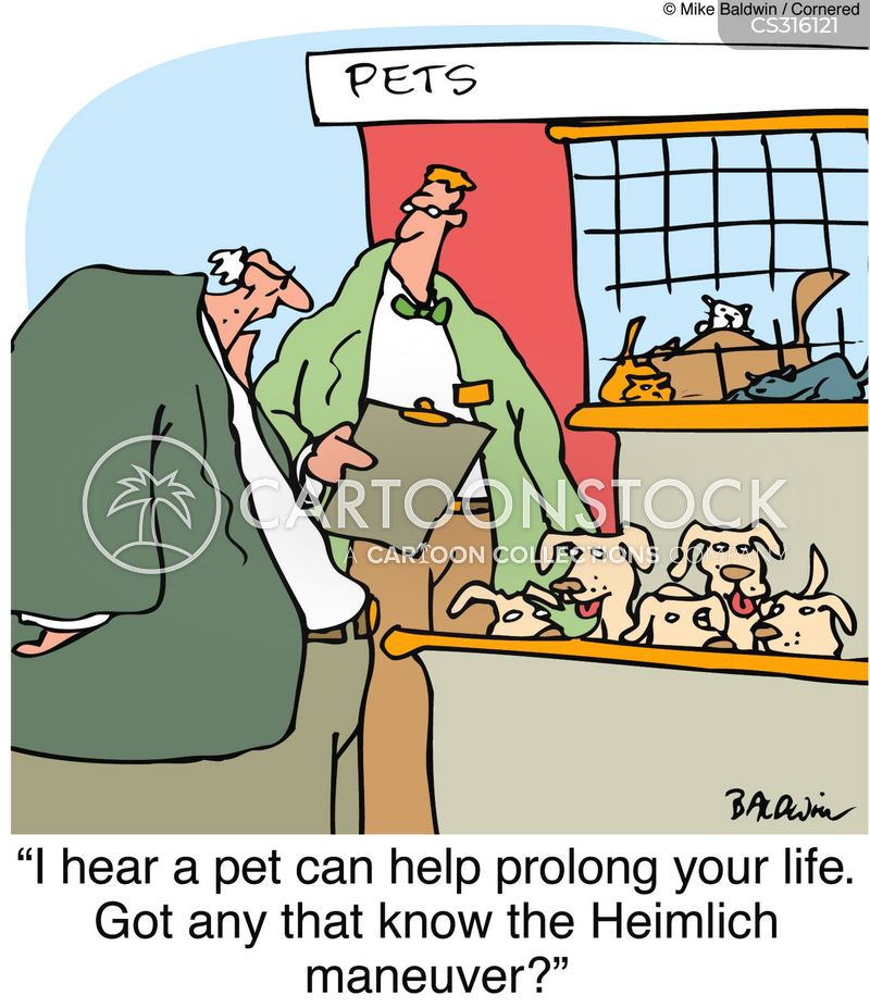 pets help prolong life cartoon