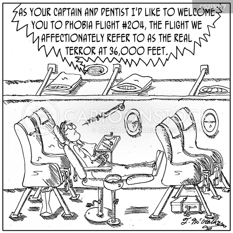 fear of dentists cartoon