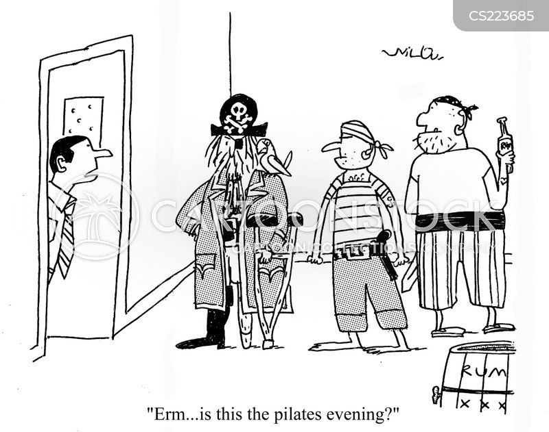 pilates class cartoon