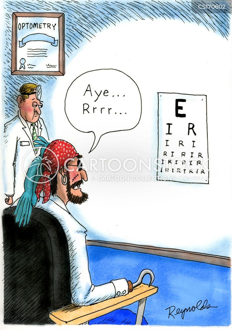 sight charts cartoon