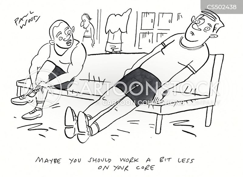core strength cartoon