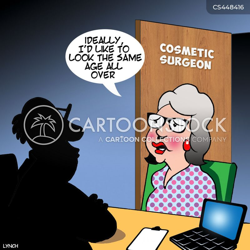 anti-aging cartoon
