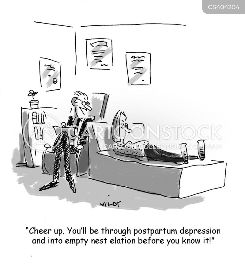 postpartum depression cartoon