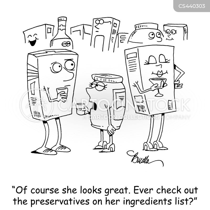 food additive cartoon