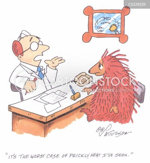 heat stroke cartoon