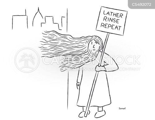 shampooing cartoon