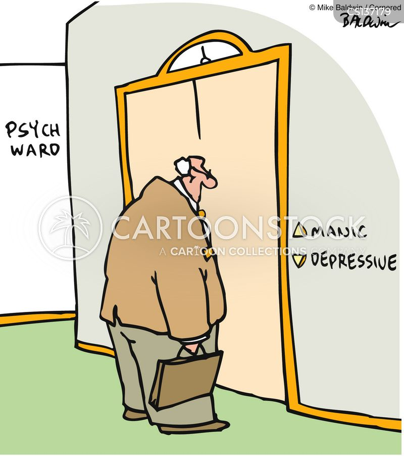 manic depressive cartoon