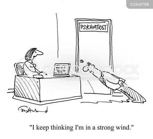 strong wind cartoon