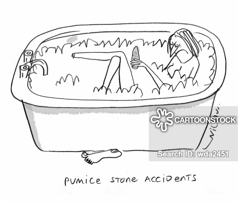 pumice stones cartoon