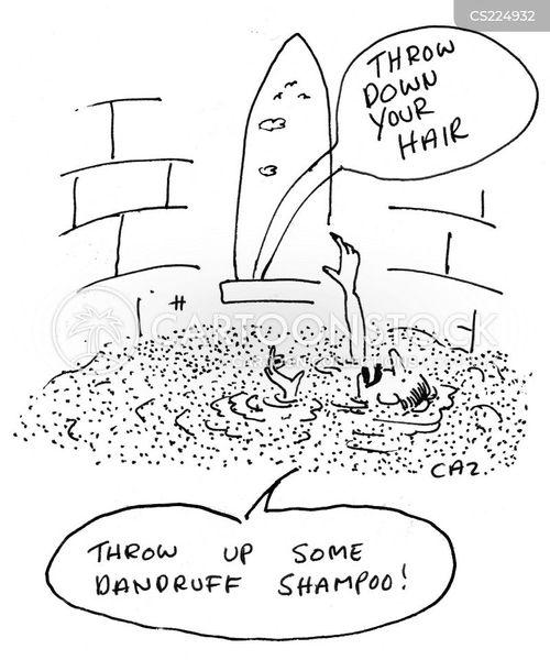 dandruff shampoo cartoon