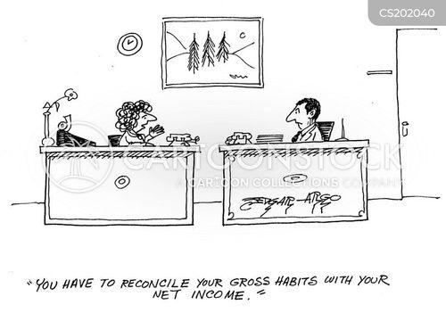 net income cartoon