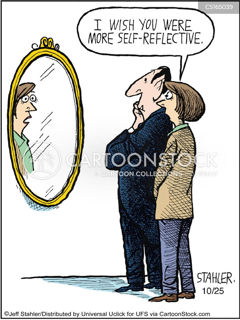 reflecting cartoon