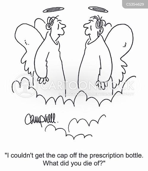 child-proof caps cartoon