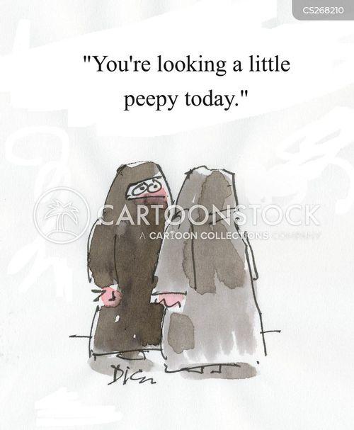 religious clothing cartoon