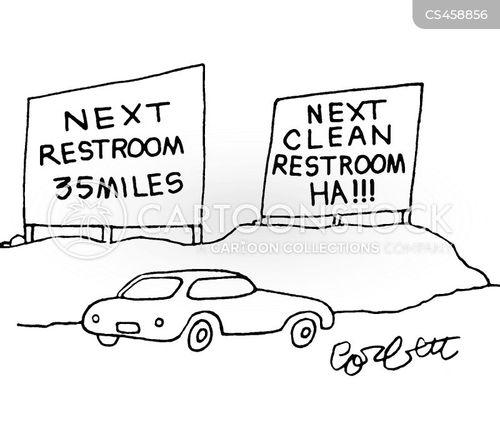 public bathroom cartoon