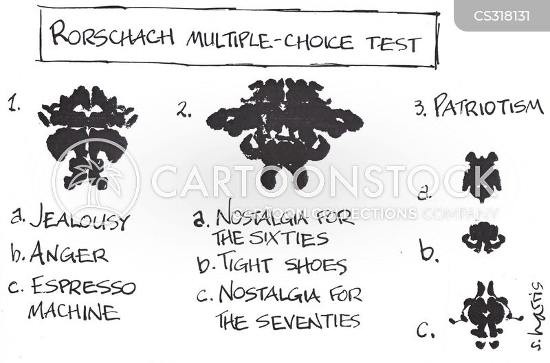rorschach test cartoon