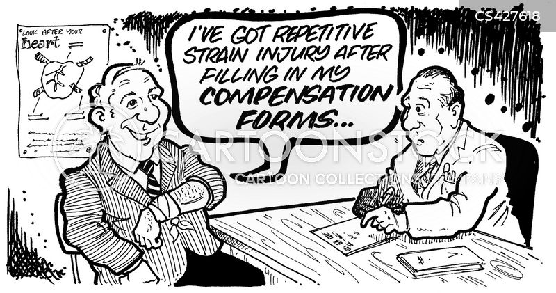 compensation payout cartoon