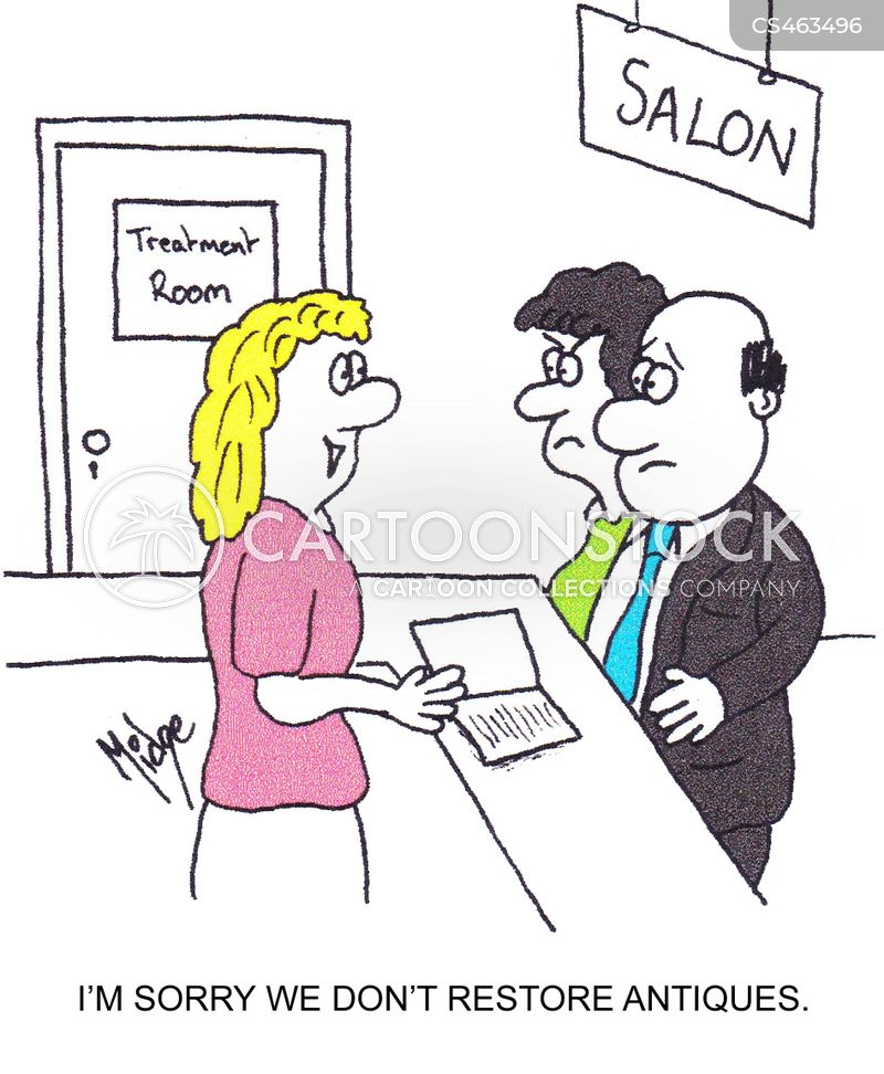 hair treatments cartoon