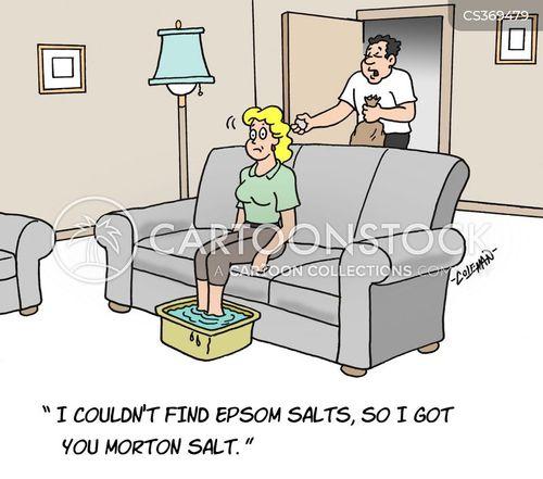 sore feet cartoon