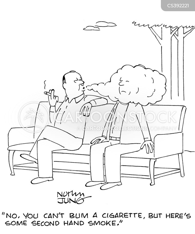 second hand smoke cartoon