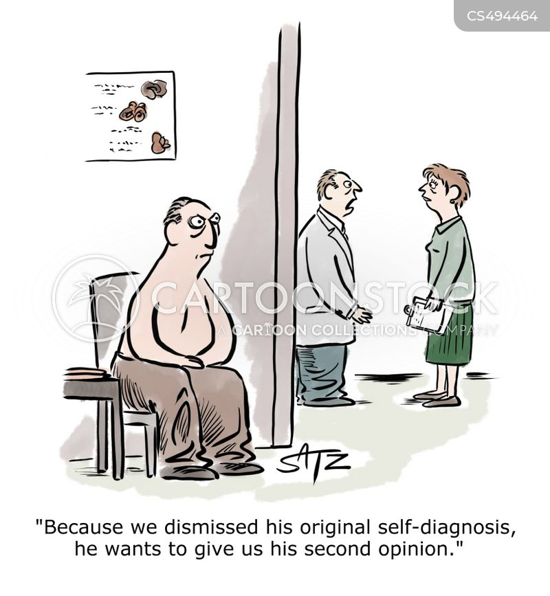 self diagnoses cartoon