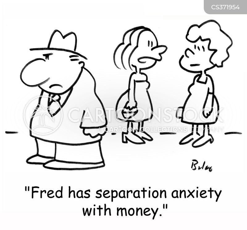 separation anxiety cartoon