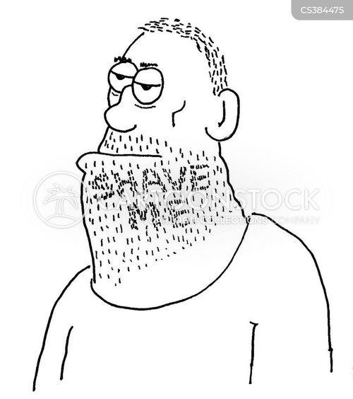 hairy man cartoon