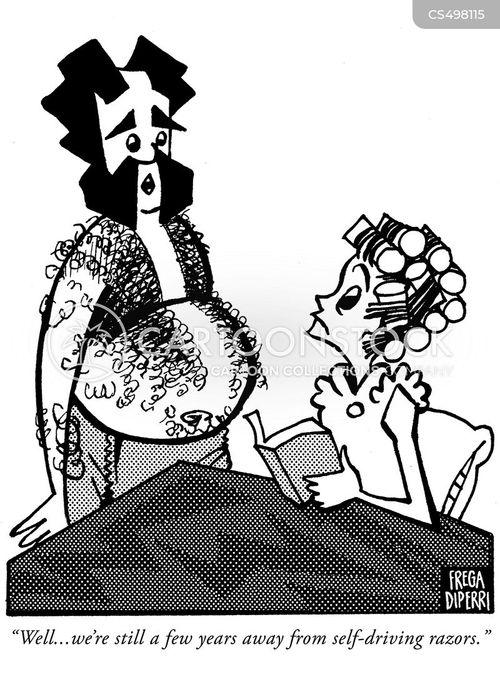 shaving accidents cartoon